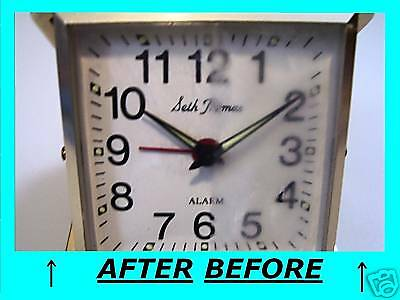 PLASTIC WATCH LENS CLOCK BEZEL SCRATCH REPAIR (Restore Scratched Plastic)