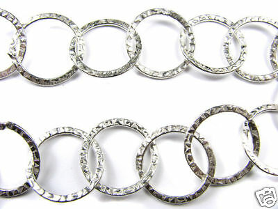 12 In Designer Silver Large Circle Link Chain Chains