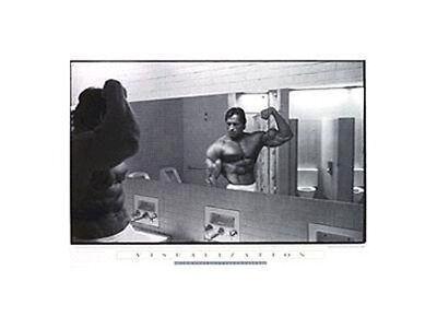 Arnold Schwarzenegger VISUALIZATION Pumping Iron Poster Print 24x36*NICE* Butler