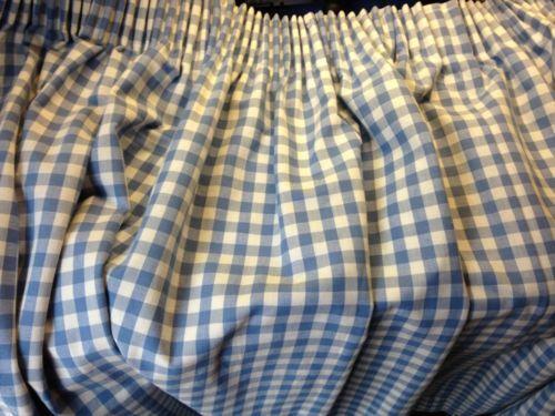 Blue Gingham Curtains Ebay