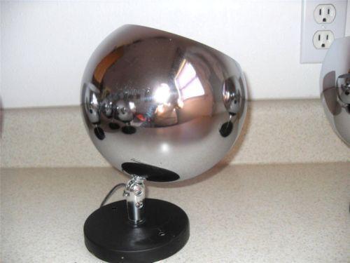 Vintage Chrome Ball Lamp Ebay