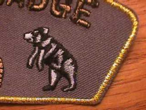 BEAR Wood Badge Patch Beads Boy Scout Scouts CSP