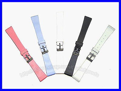 12mm 14mm Ladies Smooth Rubber Watch Band Strap 14mm Ladies Watch Band