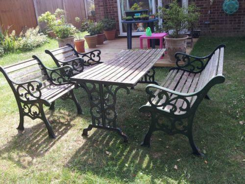 metal with antique ebay furniture parts upholstered benches chairs patio table storage outdoor rod large walmart wrought in of ends legs lowes and bench size iron garden small entryway baby cast