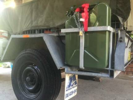 Awesome 6x4 galvanised camping trailer + 100l ice box Elanora Heights Pittwater Area Preview