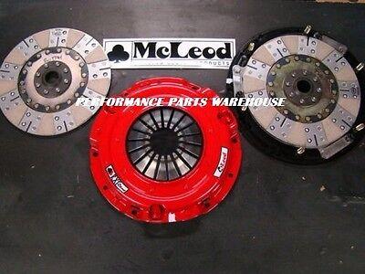 McLEOD RXT 1000-HP TWIN DISC CLUTCH 97-15 GM LS V8 w/ SFI STEEL FLYWHEEL