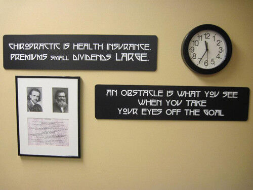 CHIROPRACTIC Quotes  Signs BJ Palmer Clinic Quote Chiropractor Custom