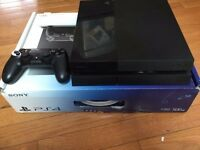 Sony PlayStation 4 500 GB Jet Black Console,and more extra items!!!!