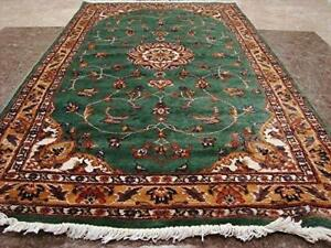 Wow Love Floral Medallion Area Rug Hand Knotted Wool Silk Carpet (5 x 3)'