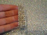 Brand New Extremely Sparkly Elastic Bracelet Covered in Diamantes all around was £10 now £6 beautif