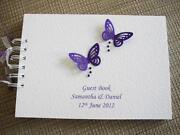 Purple Butterfly Guest Book