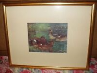 2 Duck Lithographs