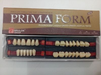 Primaform Fluorescent Highly Cross Linked 28pcs Acrylic Teeth Set