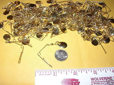 25 NEW GOLD BEETLE SPIN SPINNERS SAVE $ MAKE YOUR OWN sz 0
