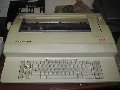 Aeg Olympia Mastertype 100i Typewriter - White - Vintage
