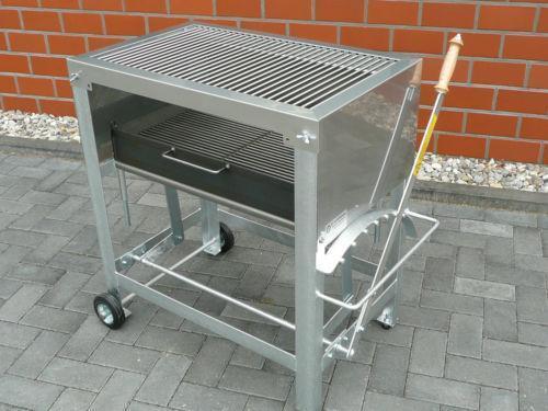 Profi edelstahl holzkohlegrill grills ebay for Edelstahl holzkohlegrill