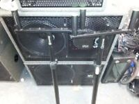 HEAVY DUTY SATELLITE SPEAKER STANDS. (JUST STANDS IN PIC)