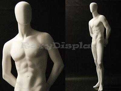 Male Fiberglass Egg Head Mannequin Dress Form Display Md-c29w2