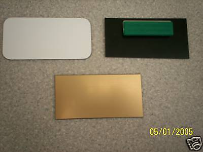 10 Blank Name Badges 1 12 X 3 With Magnet Attachment