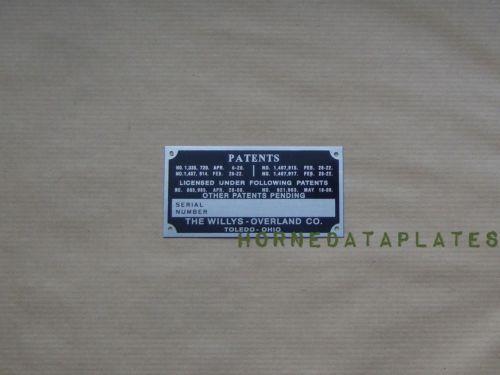 Serial Number Plate Ebay