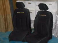 JEEP Wrangler 4 Door JK Front Seats Pair USED yellow writing