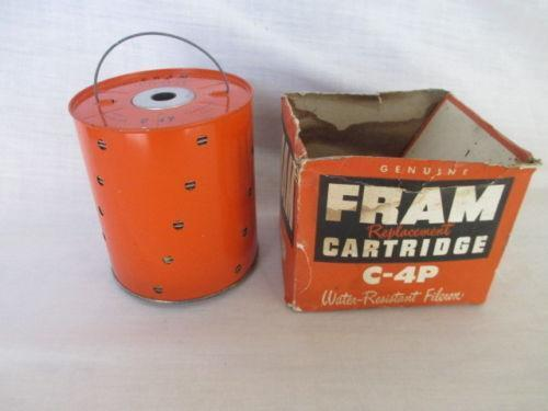 vintage fram oil filter ebay. Black Bedroom Furniture Sets. Home Design Ideas