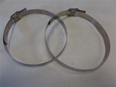 BREEZE 600 HI TORQUE STAINLESS STEEL HOSE CLAMP PAIR ( 2 ) MARINE BOAT ()