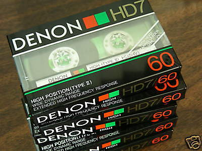 10 Denon HD7-60 hi bias Cassette Tapes