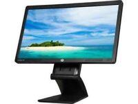 "HP EliteDisplay E201 20"" PC Monitor VGA DVI Display Port 1600x900"