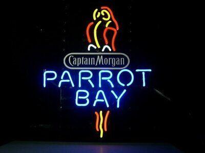 New Captain Morgan Parrot Bay Bar Cub Light Lamp Wall Decor Neon Sign 17