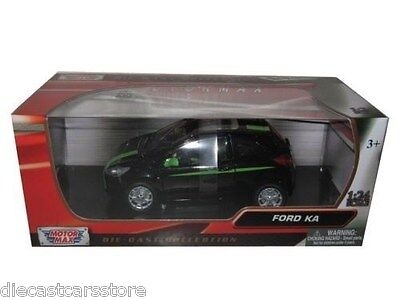 Motor Max  2008 Ford KA Black W/ Green Stripes 1/24 Diecast Car Model 73382  comprar usado  Enviando para Brazil