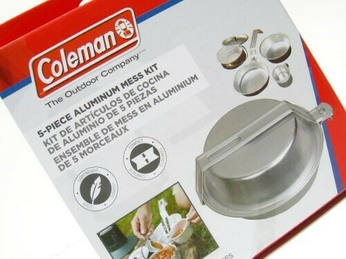 Coleman 2000016402 5 Piece Aluminum Mess Kit For Camping Hiking Cooking
