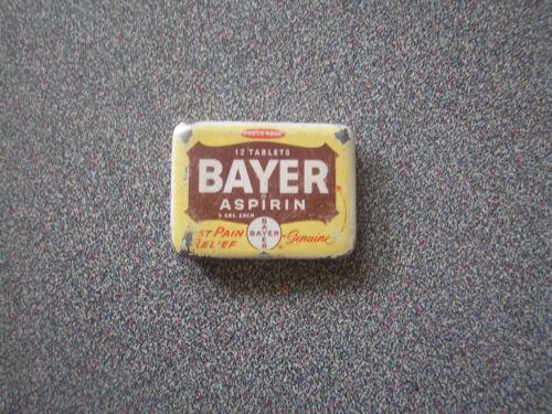 Bayer Aspirin Tin Ebay