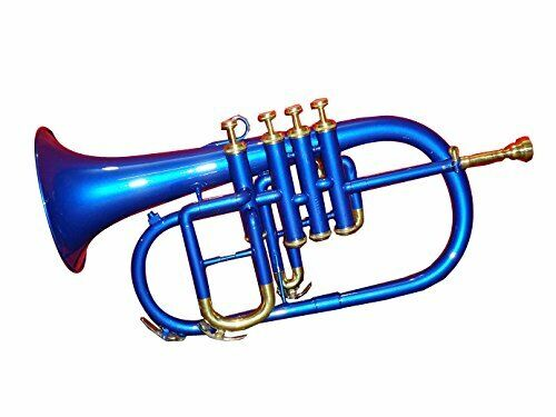 NEW OFFER Bb Flugelhorn Low Pitch BLUE Brass Musical Instrument for Intermediate