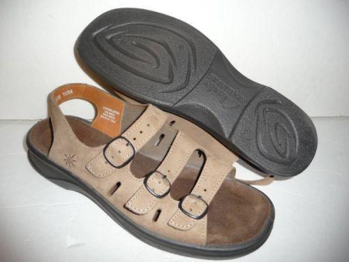 Lastest Womens Clarks Springers Sandals US 10 Light Brown Leather Slides Slip On VGUC | EBay