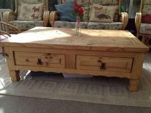 Rustic Coffee Table EBay - Long wooden side table