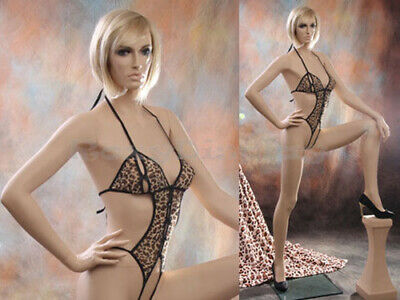 Sexy Big Bust Female Fiberglass Mannequin Dress Form Display Mz-vis4