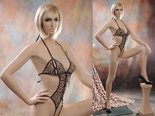Sexy Big Bust Female Fiberglass Mannequin Dress form Display #MZ-VIS4
