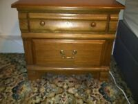 2 x Solid Wood Large Bedside Cabinets