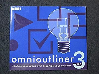 Omnioutliner 3 Pro Manual  Pamphlet   Jan 01  2005  Omni Group