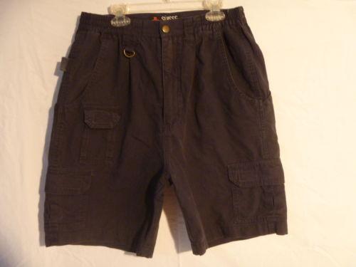 Mens Elastic Waist Cargo Shorts | eBay