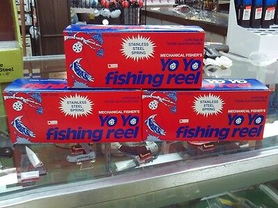 3 DZ YOYO AUTOMATIC FISHING REEL, 1 DOZEN PER BOX  (MECHANICAL (Mechanical Fisher Yo Yo Automatic Fishing Reel)