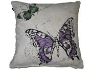 Purple Butterfly Cushion