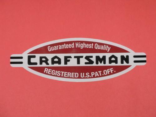 Craftsman Tool Box Decal Ebay