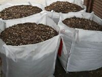 Wood chip / mulch / bark / allotments / gardens/ 1 cubic free local delivery