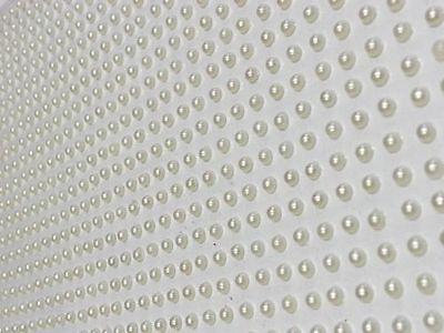 Wedding Self Adhesive Pearls - CraftbuddyUS 1500pcs 3mm Single Self Adhesive Ivory Pearls Gems Wedding Craft