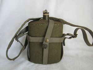 WW2 Canadian P-37 Web Carrier, Canteen & Shoulder Strap