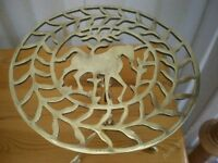 Brass Trivet with Horse detail £20 Equestrian