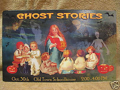 Ghost Stories Tin Metal Sign HALLOWEEN OCT 30 Pumpkins](Ghost Stories Halloween)