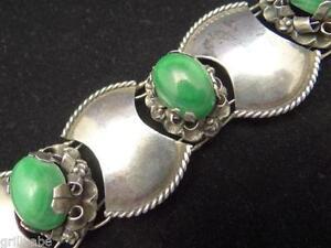 Mexican Silver Green Bracelet